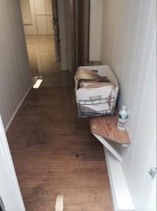 Spring hallway-flood-damage-repair